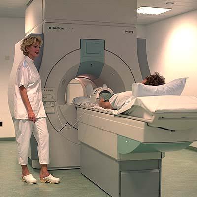 MRI in an open machine