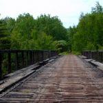 Stewart Creek Railroad Bridge on DWP Trail in Duluth