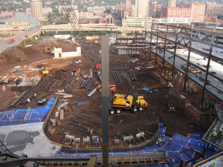 New duluth decc arena making progress perfect duluth day