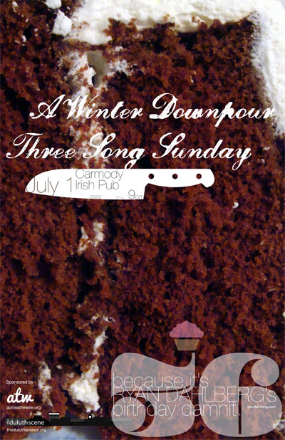 A Winter Downpour w/ Three Song Sunday | 07.01.11 @ Carmody Irish Pub