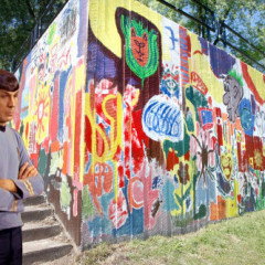 Spock is not impressed with the Cascade Park mural.