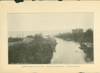 The photo of the mouth of the Lester River taken in 1896. Photo credit: submitted by Julie Krienke