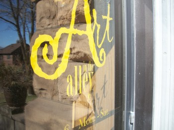 Art in the Alley is located across from the Red Mug in Superior.