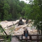 Jay Cooke Swinging Bridge Flood