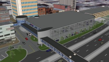 Artist rendition-New DTA Multimodal Facility