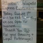 Duluth Jalapeno Express: Closed