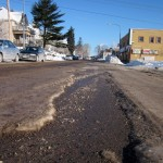 Is there a term for those jagged ice formations on Duluth streets?