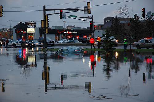 Target parking lot flood