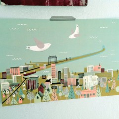 Jordan Sundberg created this unique view of Duluth, and sells it through her Etsy page.