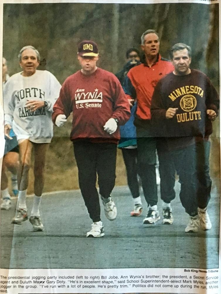 Clinton jogging 1994