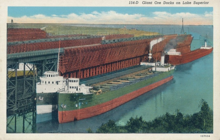 Giant Ore Docks on Lake Superior