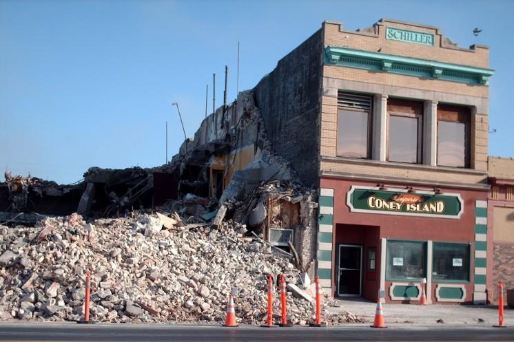 Palace Theater Demolition - Nov 2006