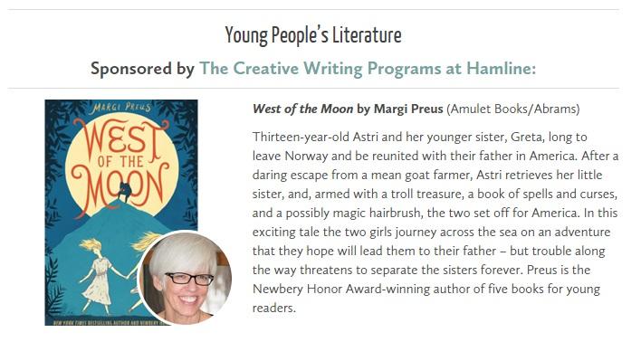Margi Preus - Minnesota Book Award 2015