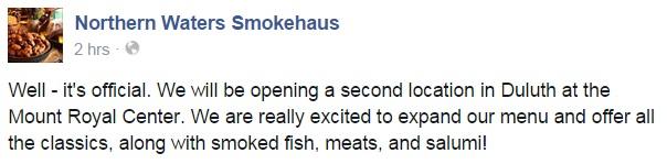 Smokehaus announcement