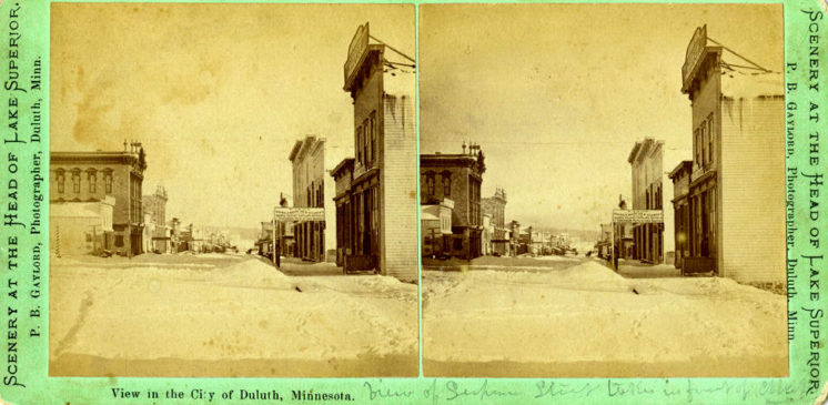Stereoview in the City of Duluth