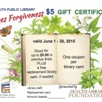 Duluth Library Fine Coupon