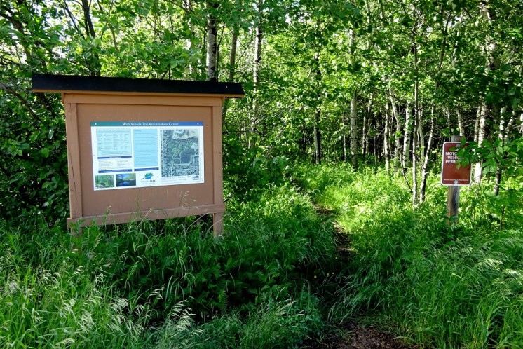 Web Woods Trail entrance