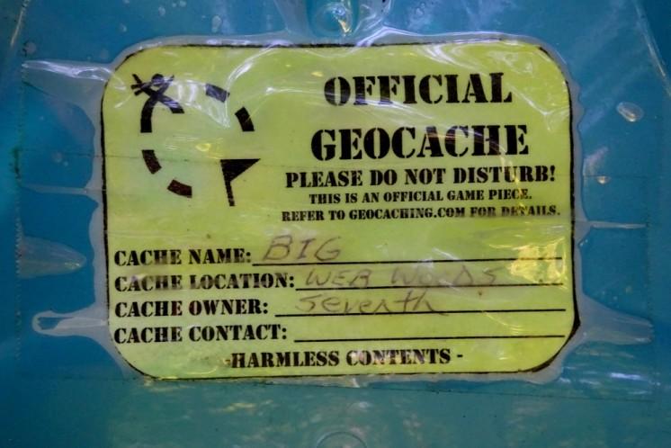 Web Woods geocache