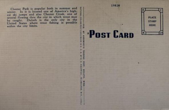 chester postcard back