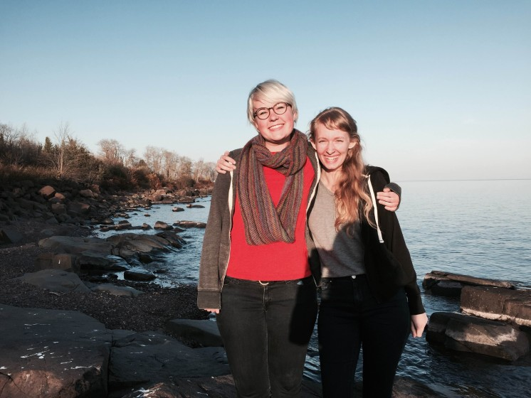 Photo of me and a friend during my time in Duluth.