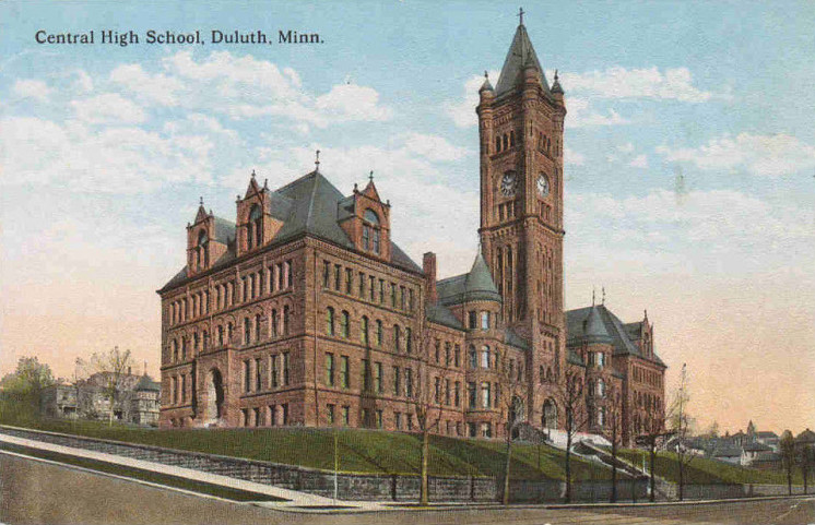 Duluth Central High School Postcard