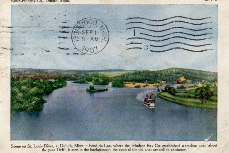 St Louis River at Hudson Trading 1907