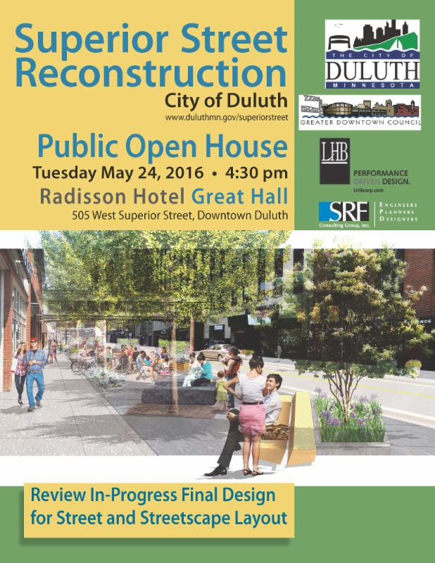 Superior Street Reconstruction Open House Perfect Duluth Day