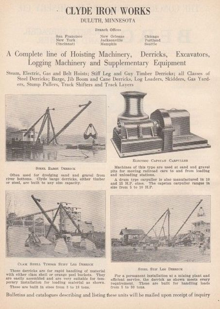 1927 Clyde Iron Works Duluth Ad 1