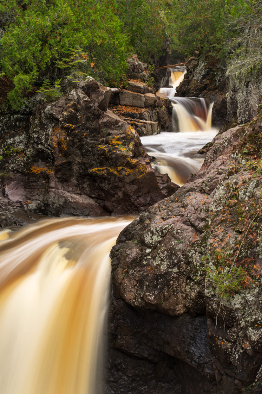 """Cascade"", Cascade River flow in Cascade State Park"