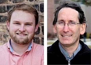 Duluth City Councilors Noah Hobbs and Joel Sipress