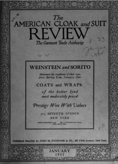 The American Cloak and Suit Review - Jan 1922