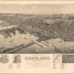 Perspective Map of Duluth in 1893