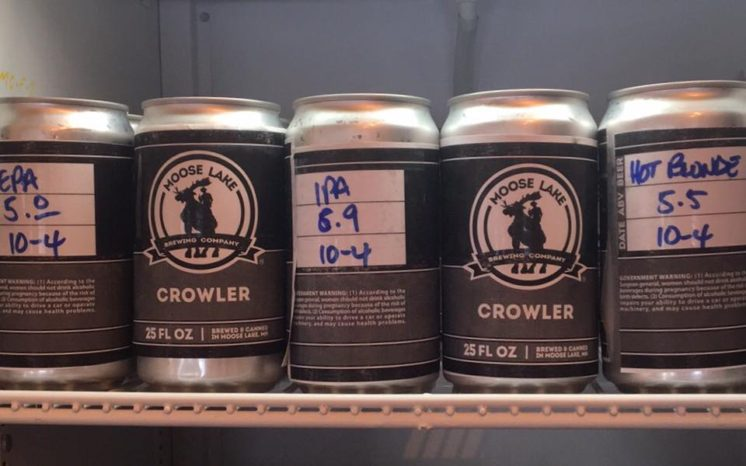 Moose Lake Brewing crowlers