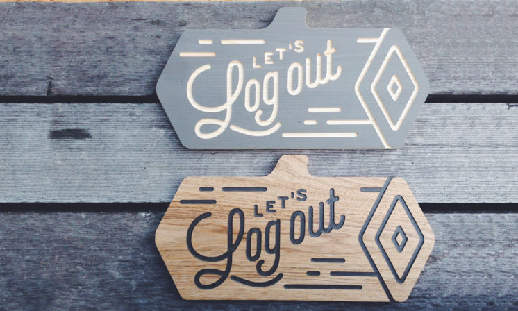 Custom carved wooden signs.