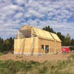 Farmhouse brewery under construction near Duluth