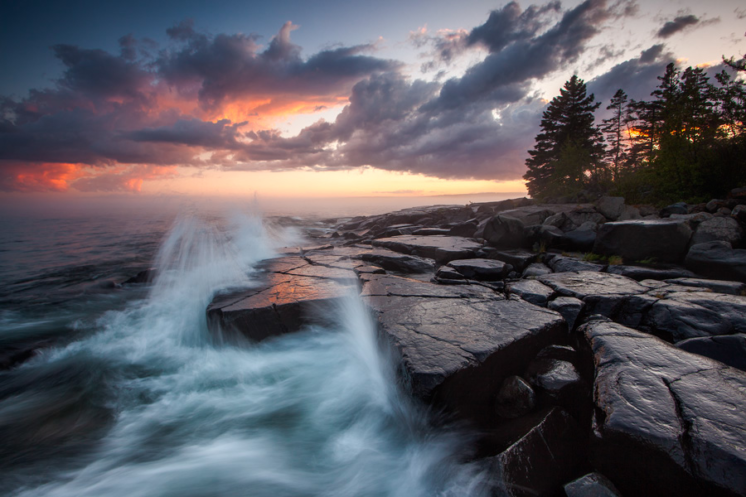 """""""Rush-N-Attack"""" A major storm moved through Duluth and cleared just as the sun was setting."""