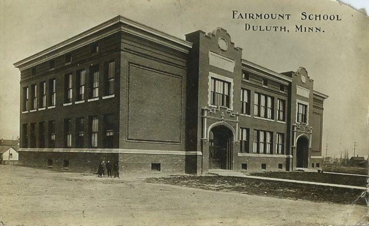 Fairmount School Duluth MN postcard