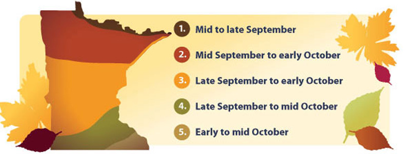 Duluth Peak Fall Colors Map