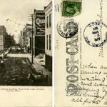 Early postcard of Michigan Street, postmarked 1911