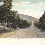 Postcard from West Third Street in 1908