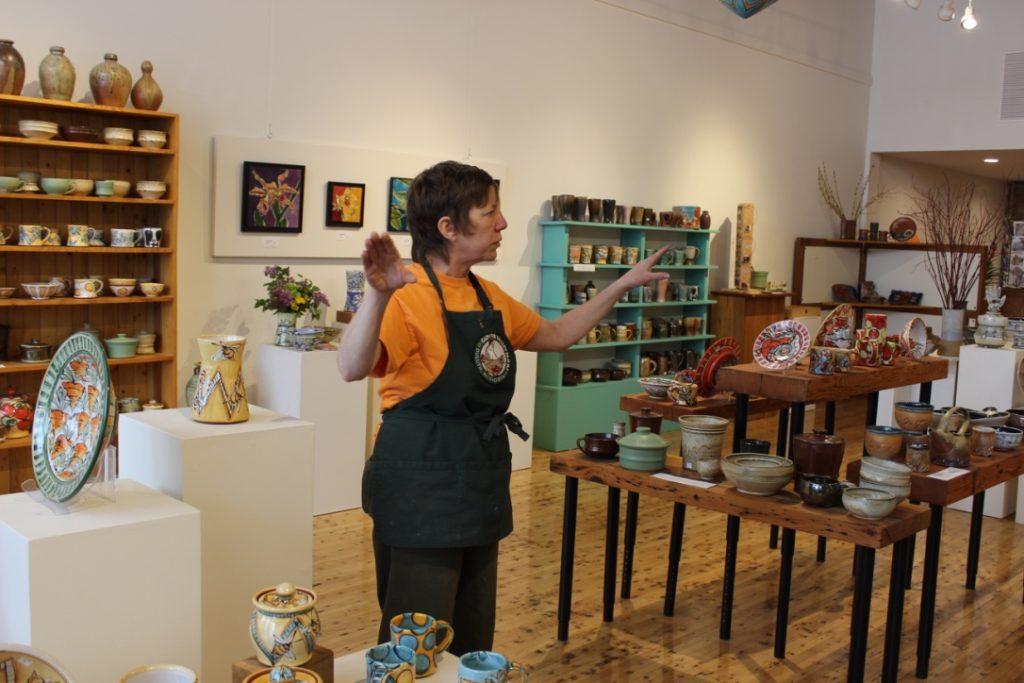 Karin Kraemer of Duluth Pottery - Photo by Lissa Maki