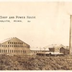 Postcard from U.S. Steel's Machine Shop and Power House
