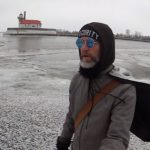 Lake Superior Aquaman Patrolling the Big Lake on Skates