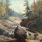 Feodor von Luerzer painting of Lester River