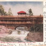 Postcard from the Rustic Bridge at Lester Park in 1910