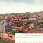 Postcard from old Duluth Post Office and Incline Pavilion
