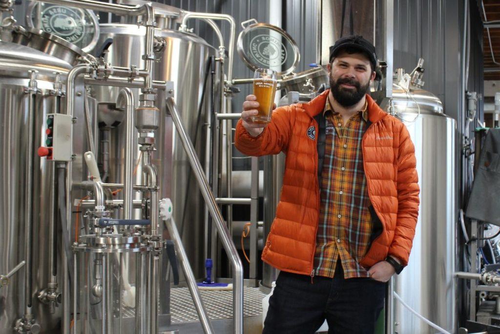 Ben Hugus with Ursa Minor's new NA beer