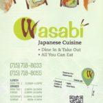 The Menu: Wasabi Japanese Cuisine
