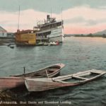 Postcard from Fond du Lac Boat Docks and Steamboat Landing
