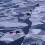 Video: Ice-fishing gear floating away on Lake Superior ice sheets